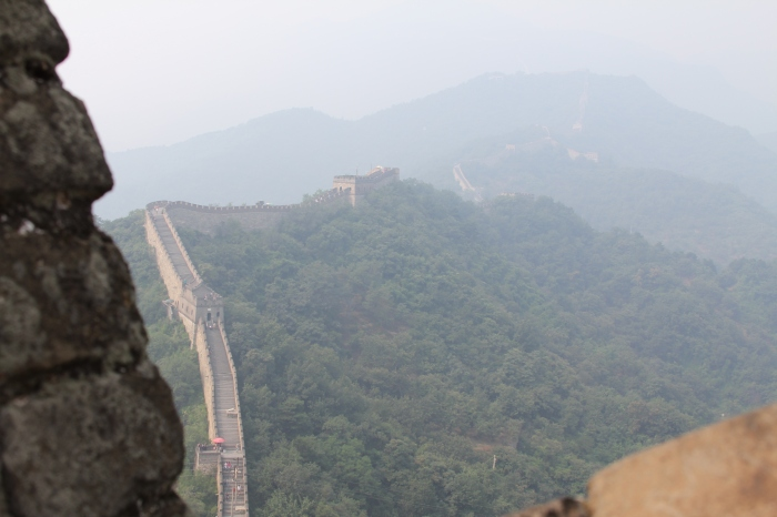 A long shot of the Great Wall.