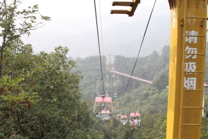 The ropeway to Mutianyu -- looking down