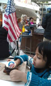 Obama cupcake and the American flag