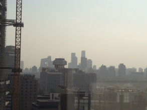 This is AQI 200 and actually looks better than AQI 160 that day - goes to show that the worst stuff isn't always visible. More on that later.
