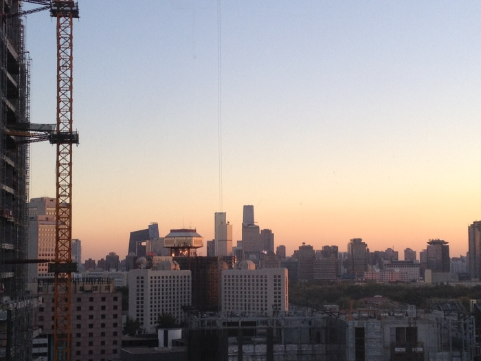 A beautiful dawn over the Beijing central business district (CBD). AQI 30