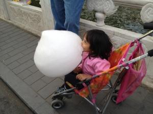 Gigantic cotton candy