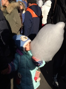 Angry Bird eating cotton candy