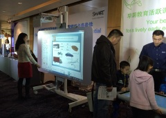 Exploring information on the touch screen